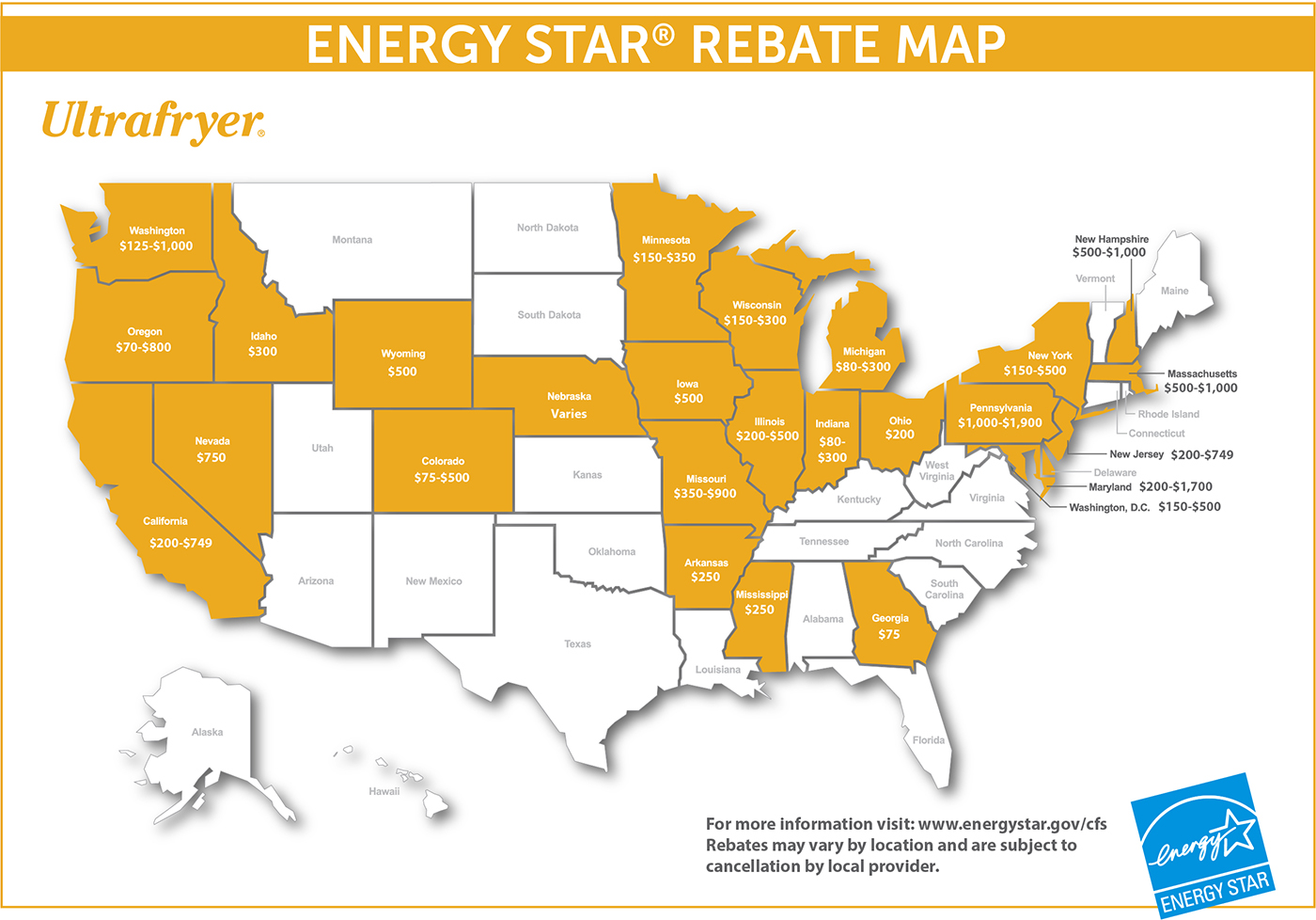 Energy Star Rebate Map